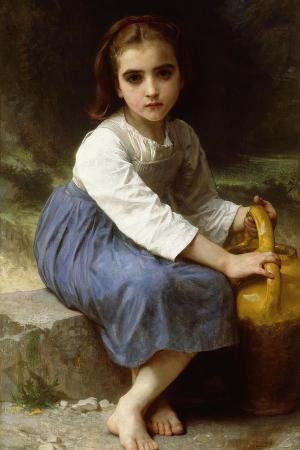 Young Girl with a Pitcher; Jeune Fille a La Cruche, 1885