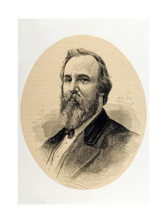 Rutherford B. Hayes (1822-1893). Engraving