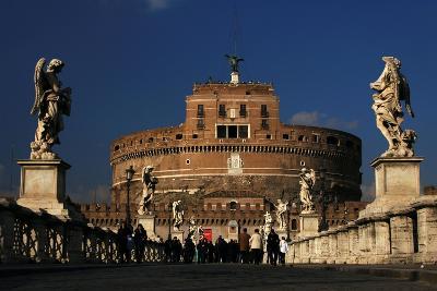 Italy. Rome. Saint Angelo Bridge and Hadrian's Mausoleum