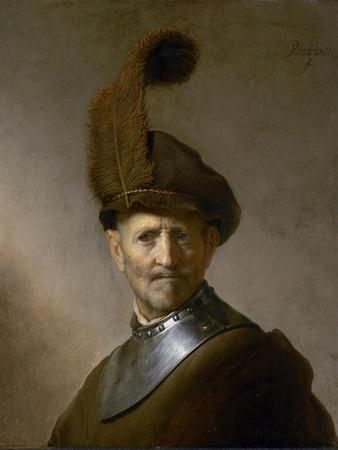 An Old Man in Military Costume (Formerly Called Portrait of Rembrandt's Father), C.1630