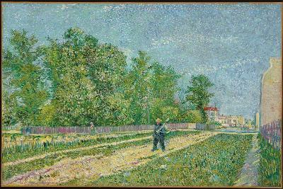 Road on the Edge of Paris, Farmer Carrying a Spade on His Shoulder, 1887