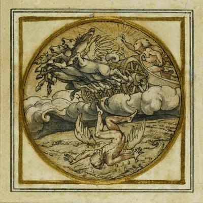The Fall of Icarus - Design for a Pendant or Hat Badge, C.1532-43