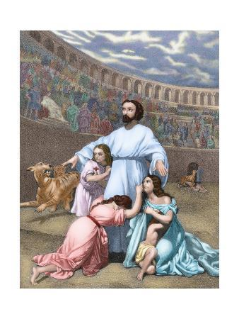 The Diocletianic Persecution (303 Ad). Christian Delivered to the Beasts after the Edict of…