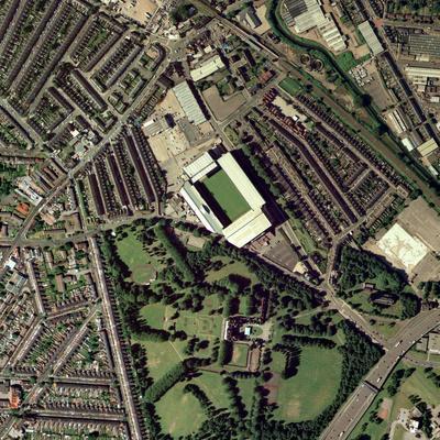 Aston Villa's Villa Park Stadium, Aerial