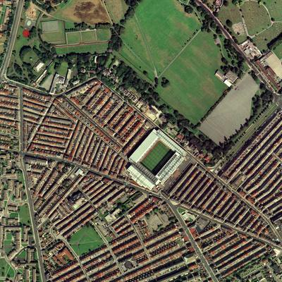 Liverpool's Anfield Stadium, Aerial View