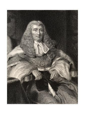 Charles Abbott, 1st Baron Tenterden, Engraved by W. Holl, from 'National Portrait Gallery, Volume…