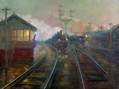 Train at Night C.1890