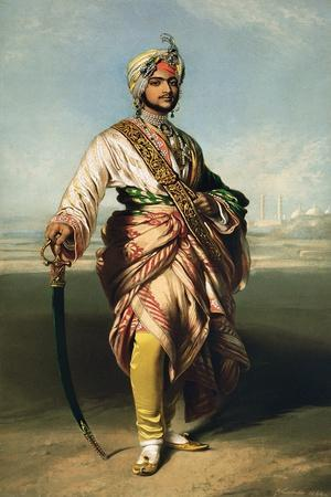 Duleep Singh, Maharajah of Lahore (1838-93), 1854 Lithographed by R.J. Lane