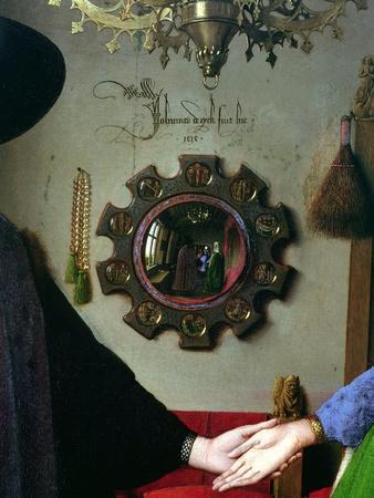 Arnolfini Marriage, Detail of Mirror, 1434