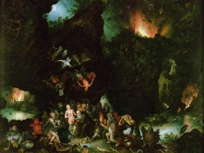 The Temptation of St. Anthony - Hell, 1594