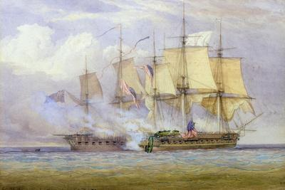 The Moment of Victory Between Hms 'shannon' and the American Ship 'Chesapeake' on 1st June 1813,…