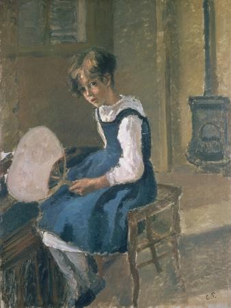 Portrait of Jeanne Holding a Fan, 19th Century