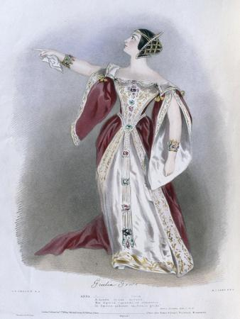 Giulia Grisi (1811-69) as Anna in 'Anna Bolena', from 'Recollections of the Italian Opera',…