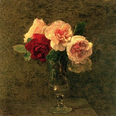 Still Life of Pink and Red Roses, 19th Century