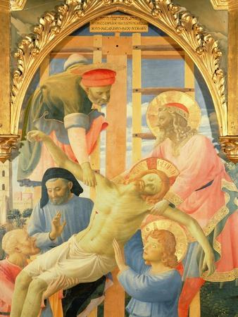 Santa Trinita Altarpiece, Detail of the Dead Christ Being Lowered from the Cross, C.1434