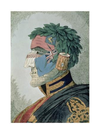 Portrait of a Noble Duke, Cartoon of Arthur Wellesley, Duke of Wellington (1769-1852) Pub. 1829