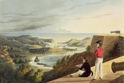 View of the English Harbour, Antigua from Great George Fort, Monks Hill, Engraved by T. Fielding,…