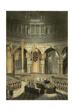 The Ceremony of Lord Nelson's Interment in St. Paul's Cathedral from 'The History and Graphic…