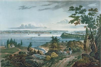 New York from Weehawk, Engraved by I. Hill, 1820-3
