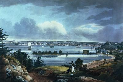 New York from Heights Near Brooklyn, 1820-23