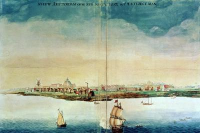 View of New Amsterdam, 1650-3