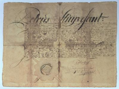 Deed Signed by Peter Stuyvesant, Director General of New Netherland, 15th May 1664