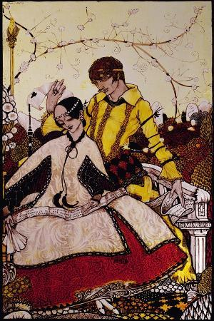 """""""Seven Dog-Days We Let Pass, Naming Queens in Glenmacnass"""" Illustration by Harry Clarke from…"""