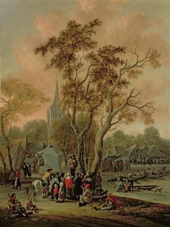 A Village Fair with a Mummer, 1702