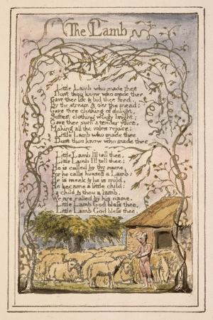 Songs of Innocence and of Experience Plate 7: the Lamb, C.1789-94