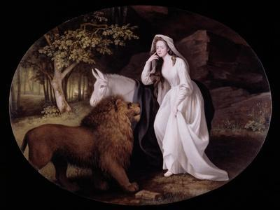 Una and the Lion (Isabella Saltonstall as Una in Spenser's 'Faerie Queene'), 1782