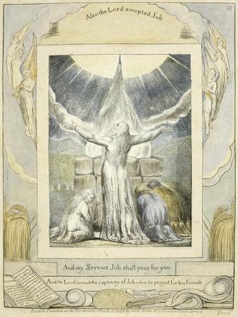 Job Praying (Pl.18) from the Book of Job, C.1793