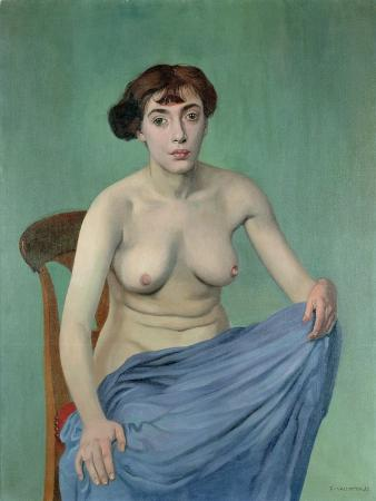 Nude in Blue Fabric, 1912
