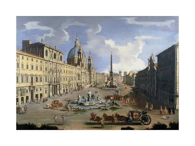 A View of the Piazza Navona in Rome