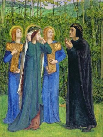 No.2292 the Salutation of Beatrice in Eden, 1850-54