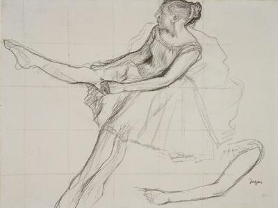 Pd.23-1978 Dancer Adjusting Her Tights, C.1880
