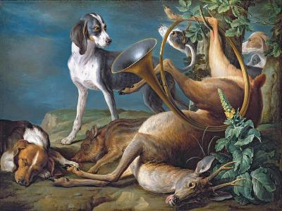 Still Life of Dead Game with Hounds, 1730