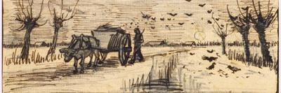 Ox-Cart in the Snow, from a Series of Four Drawings Representing the Four Seasons