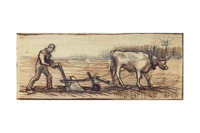At the Plough, from a Series of Four Drawings Representing the Four Seasons
