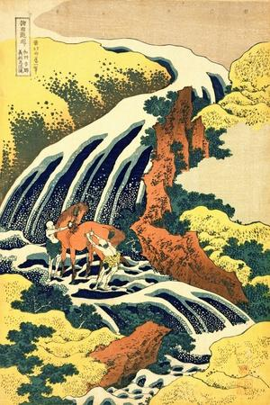 The Waterfall Where Yoshitsune Washed His Horse', No.4 in the Series 'A Journey to the Waterfalls…