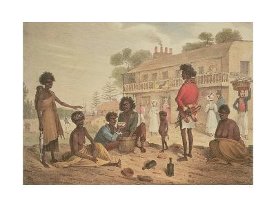 Natives of New South Wales as Seen in the Streets of Sydney, Plate 4 of Part 1 of 'Views in New…