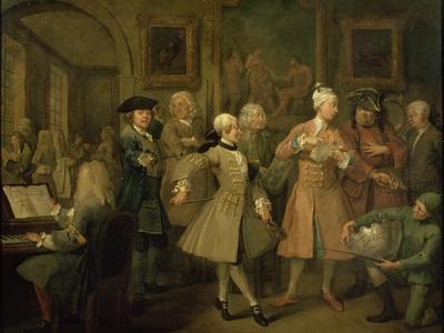 A Rake's Progress II: the Rake's Levee, 1733
