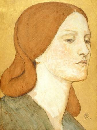 No.1575 Head of a Girl in a Green Dress (Elizabeth Siddal), 1850-65