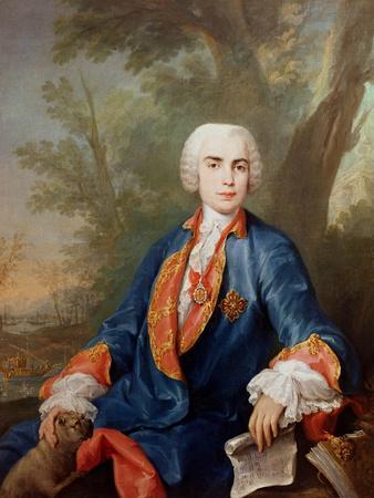 Portrait of Carlo Broschi, Called 'Il Farinelli', Italian Castrato Singer