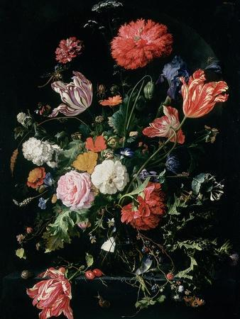 Flowers in a Glass Vase, C.1660