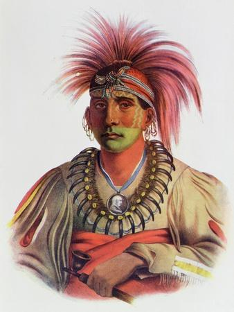 Nowaykesugga, an Otto, Illustration from 'The Indian Tribes of North America, Vol.3', by Thomas…
