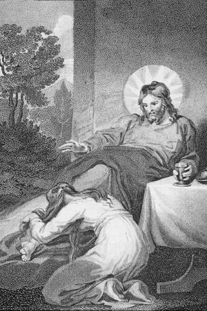 Mary Anointing the Saviour's Feet, from 'The History and Life of Our Blessed Lord and Saviour…