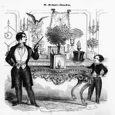 Jean Eugene Robert-Houdin (1805-71) Explaining a Mechanical Toy