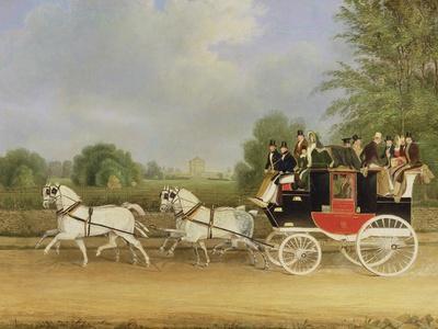 The London-Farringdon Coach Passing Buckland House, Berkshire