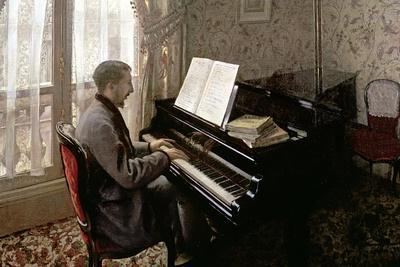 Young Man Playing the Piano, 1876