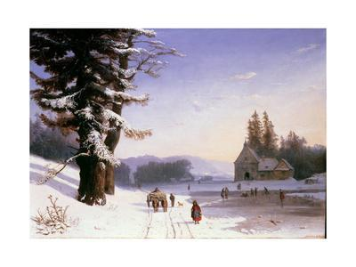 Snow Scene in the South of France, 1868